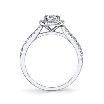 MARS 25389 Diamond Engagement Ring 0.37 Ctw.