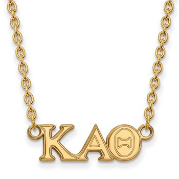 Gold-Plated Sterling Silver Kappa Alpha Theta Greek Life Necklace