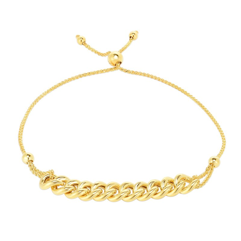 Royal Chain 14K Gold Curbed Chain Friendship Bracelet