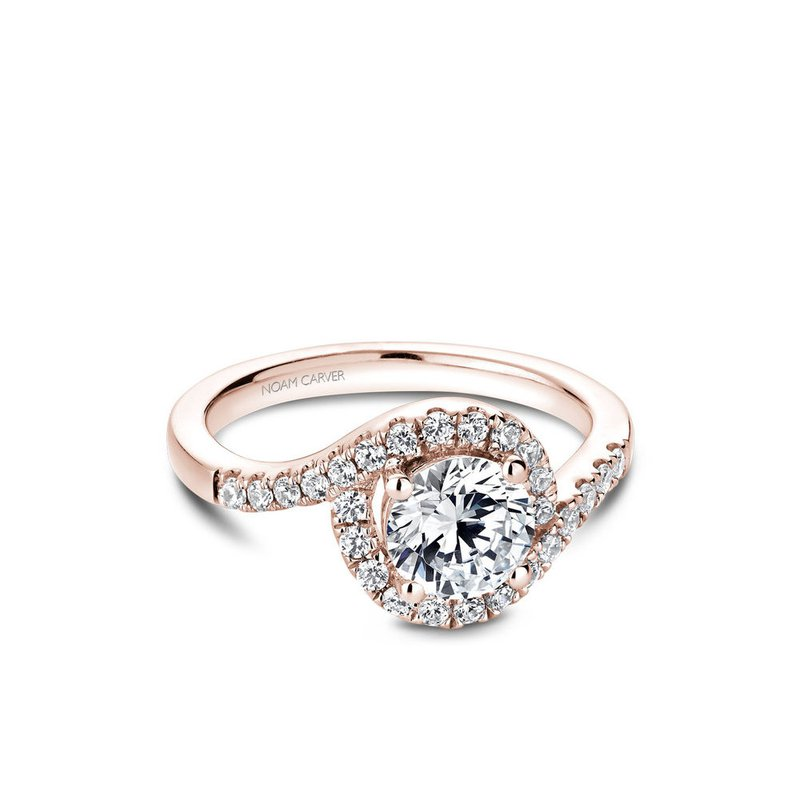 Noam Carver Halo Engagement Ring