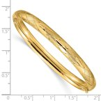 Quality Gold 14k 4/16 Diamond-cut Fancy Hinged Bangle Bracelet