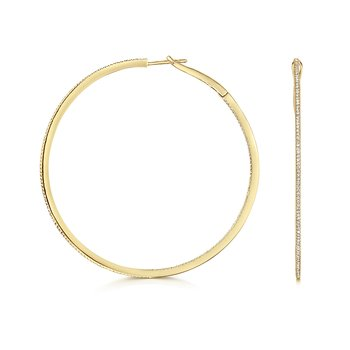 Diamond Hoops 53mm