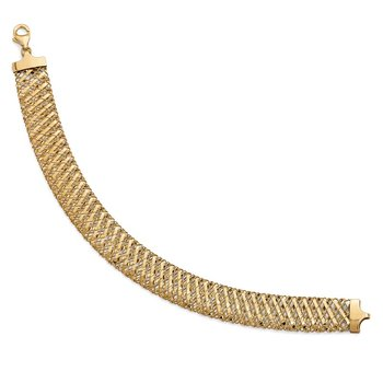 Leslie's 14k Fancy Stretch Bracelet