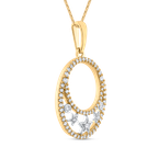 Round Cut Diamond Star Charm Fashion Pendant