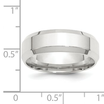 SS 7mm Bevel Edge Size 10 Band