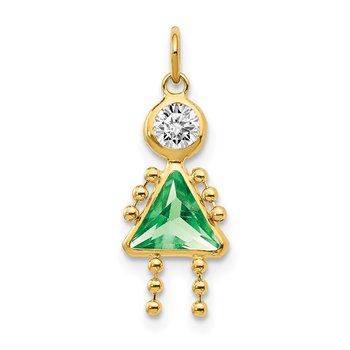 14k August Girl Birthstone Charm