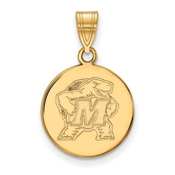 Gold University of Maryland NCAA Pendant