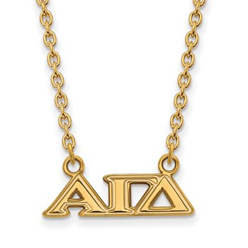 Gold-Plated Sterling Silver Alpha Gamma Delta Greek Life Necklace