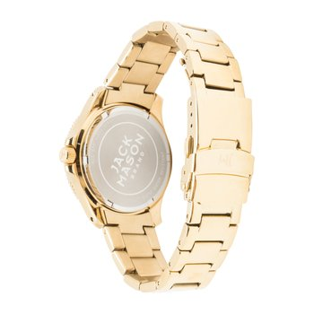 Kansas State Wildcats Women's Gold-Tone Glitz Sport Bracelet Watch