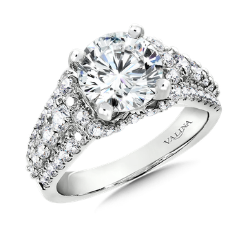 Diamond Engagement Ring Mounting in 14K White Gold (1.19 ct. tw.)