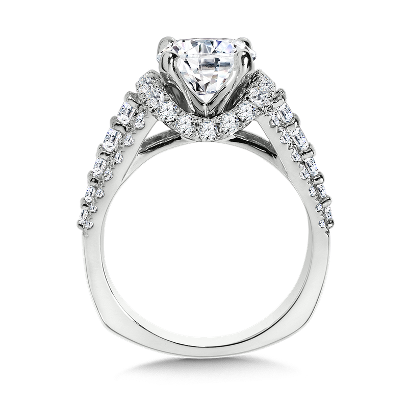 Valina Diamond Engagement Ring Mounting in 14K White Gold (1.19 ct. tw.)