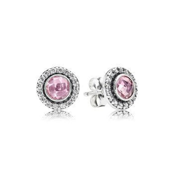 Brilliant Legacy Stud Earrings, Pink Clear Cz