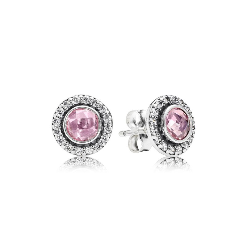 5b65953db PANDORA Brilliant Legacy Stud Earrings, Pink Clear Cz. Stock # 290553PCZ