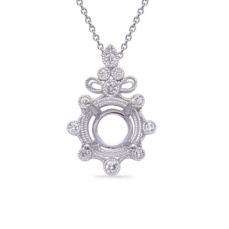 S. Kashi  & Sons White Gold Diamond Pendant for 1.50ct