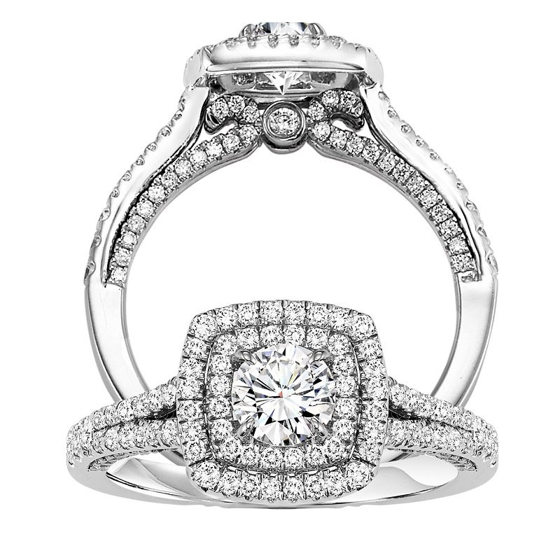 Bridal Bells 14K Diamond Engagement Ring 1/2 ctw with 1/2 ct Center