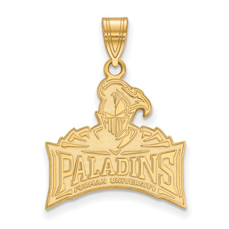 NCAA Gold-Plated Sterling Silver Furman University NCAA Pendant