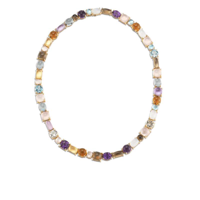 Roberto Coin 1 Row Necklace With Semi Precious Stones