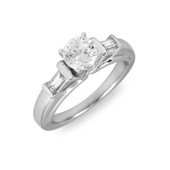 18K WG & PD Diamond Engagement Ring