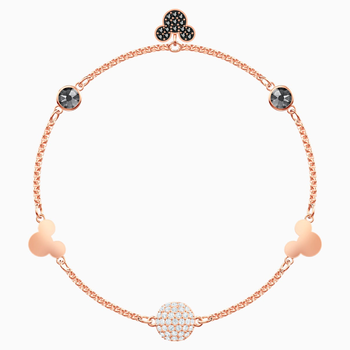 Swarovski Remix Collection Mickey Strand, Multi-colored, Rose-gold tone plated