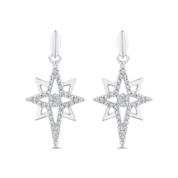Round Cut Diamond Fashion Drop Earrings