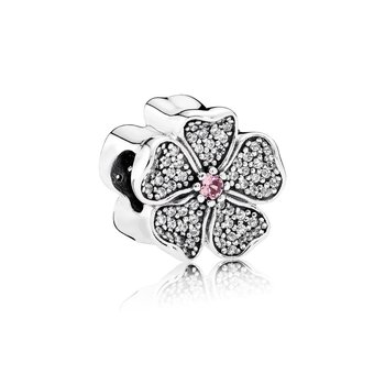 Sparkling Apple Blossom, Blush Pink Crystal Clear Cz