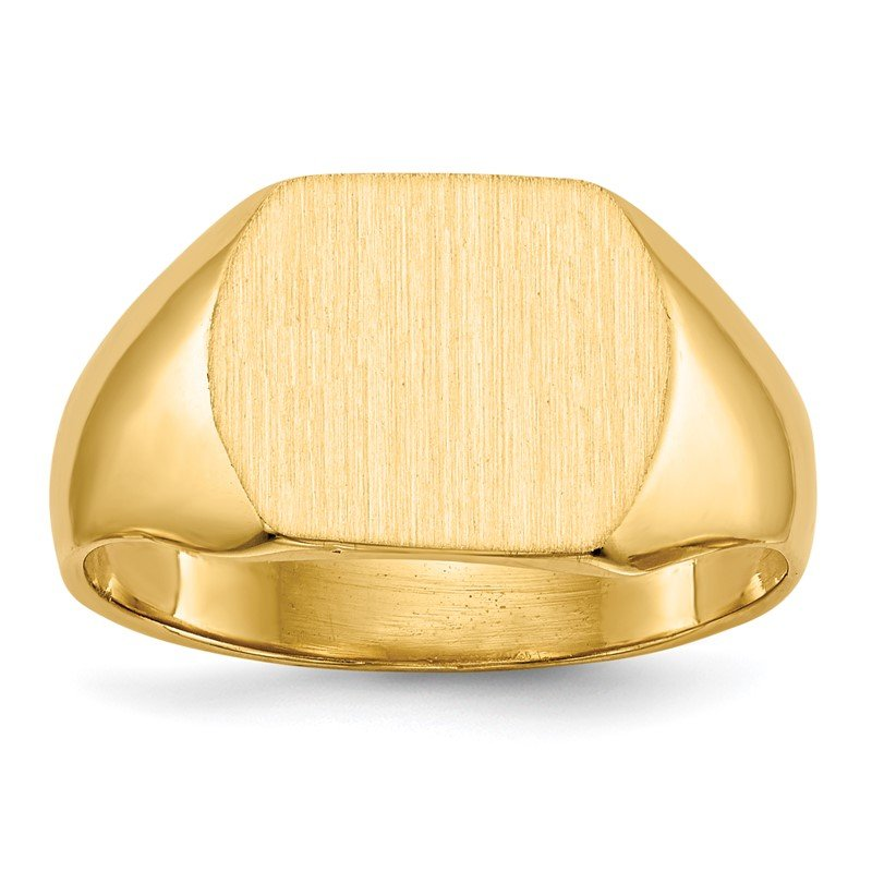 Quality Gold 14k 10.5x12.0mm Closed Back Signet Ring