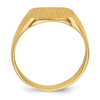 14k 10.5x12.0mm Closed Back Signet Ring