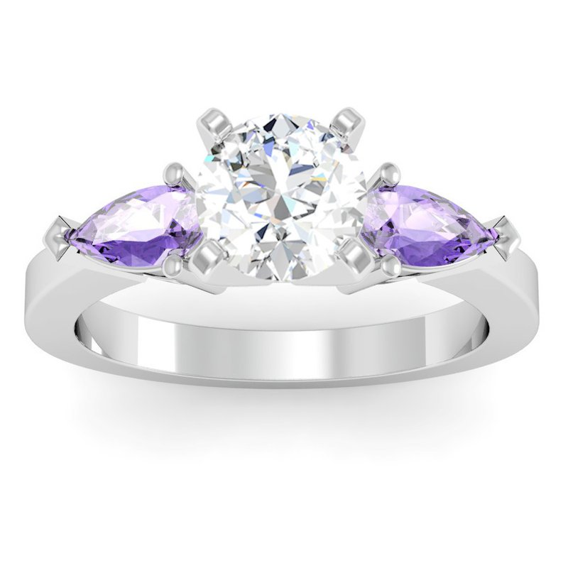 J.F. Kruse Signature Collection Classic Pear Shaped Tanzanite Engagement Ring