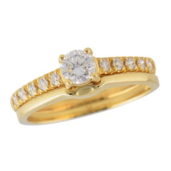 14KT Gold Two-Piece Wedding Set