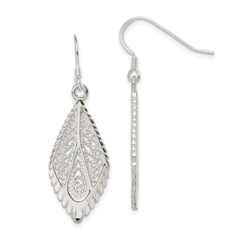 Quality Gold Sterling Silver Filigree Earrings