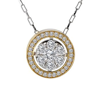 Ladies Fashion Two-Tone Pendant