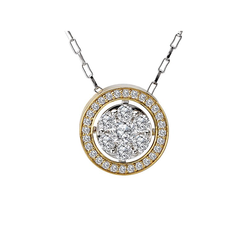 Radiance Ladies Fashion Two-Tone Pendant