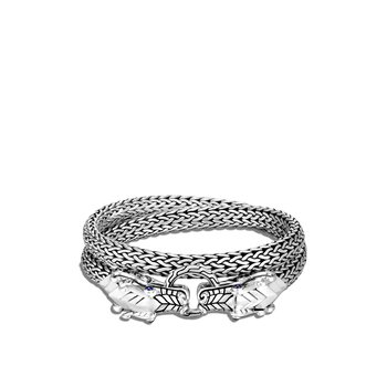 Legends Naga Double Wrap 7.5MM Bracelet in Silver, Gemstone