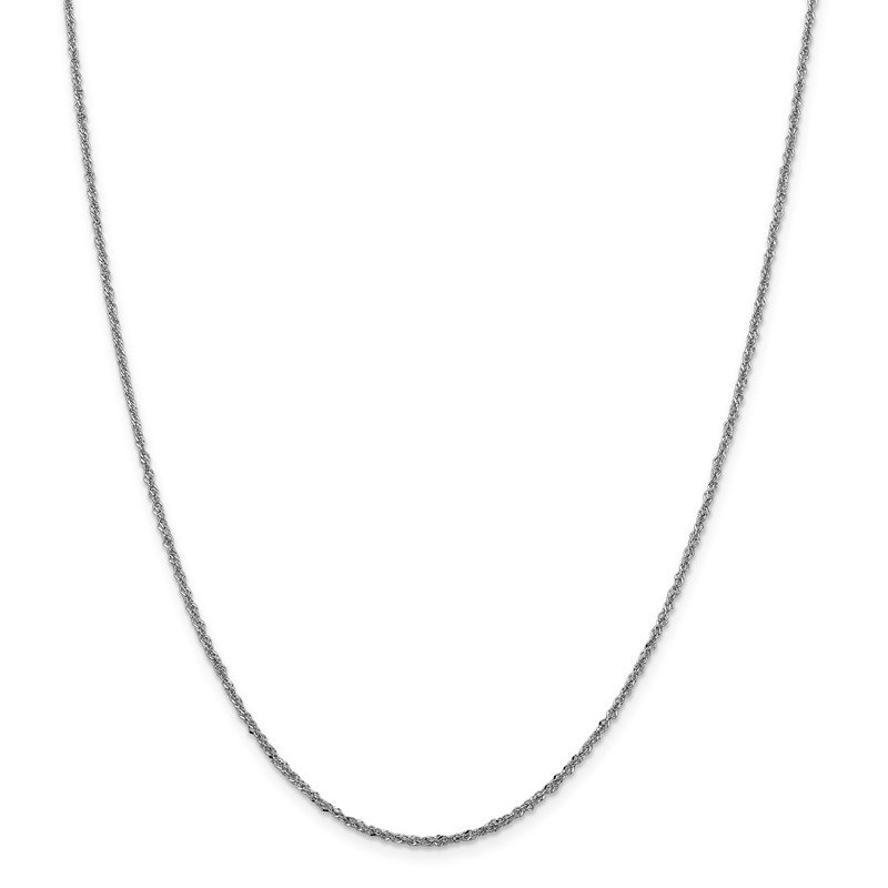 Leslie's Leslie's 14K White Gold 1.6 mm Sparkle Singapore Chain