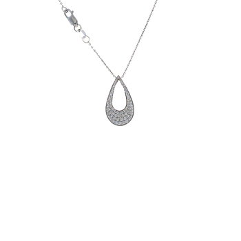 18KT WHITE GOLD DIAMOND DROP PENDANT
