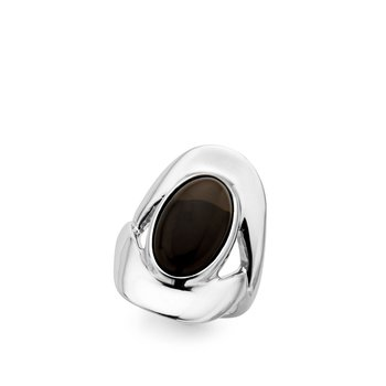 Oval Ring/Smokey Quartz  - S8