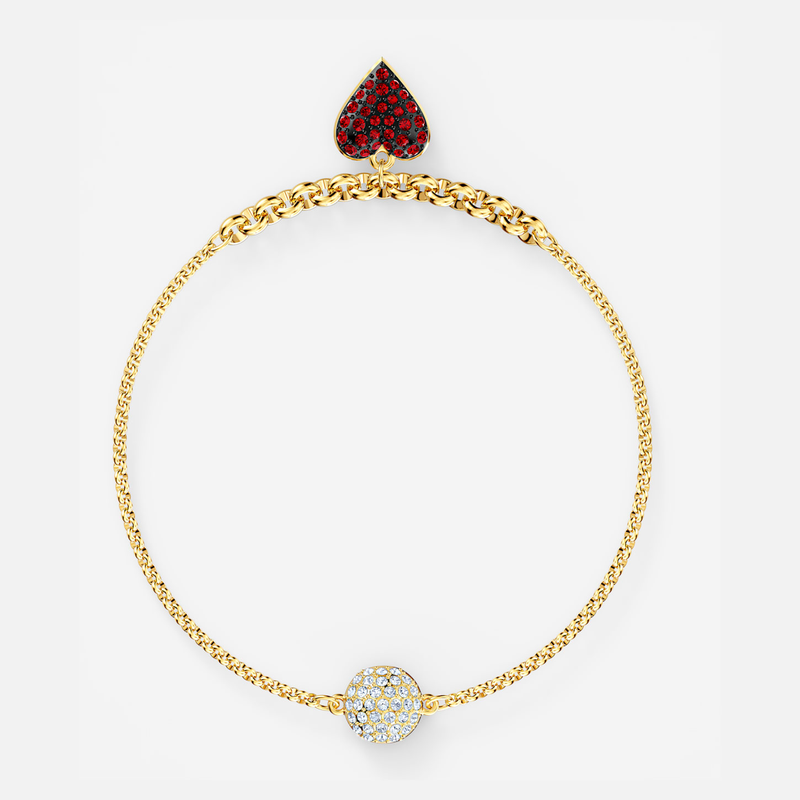 Swarovski Swarovski Remix Collection Heart Strand, Red, Gold-tone plated