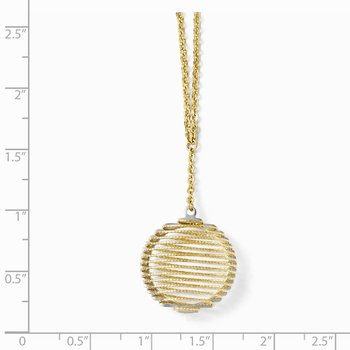 Leslie's 14k Two-tone Wire Wrapped Necklace