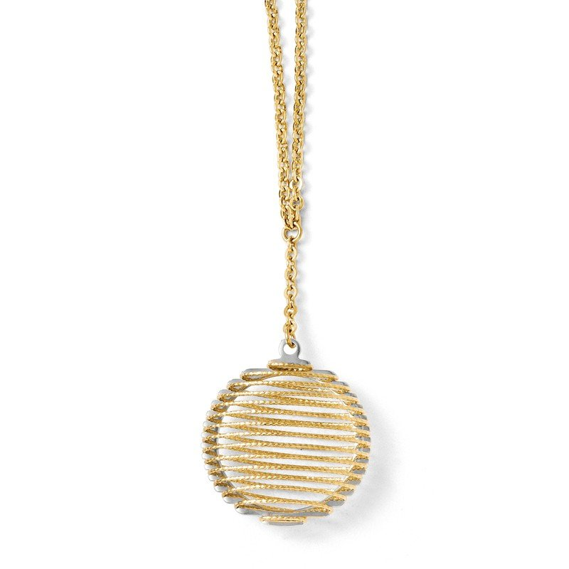 Leslie's Leslie's 14k Two-tone Wire Wrapped Necklace