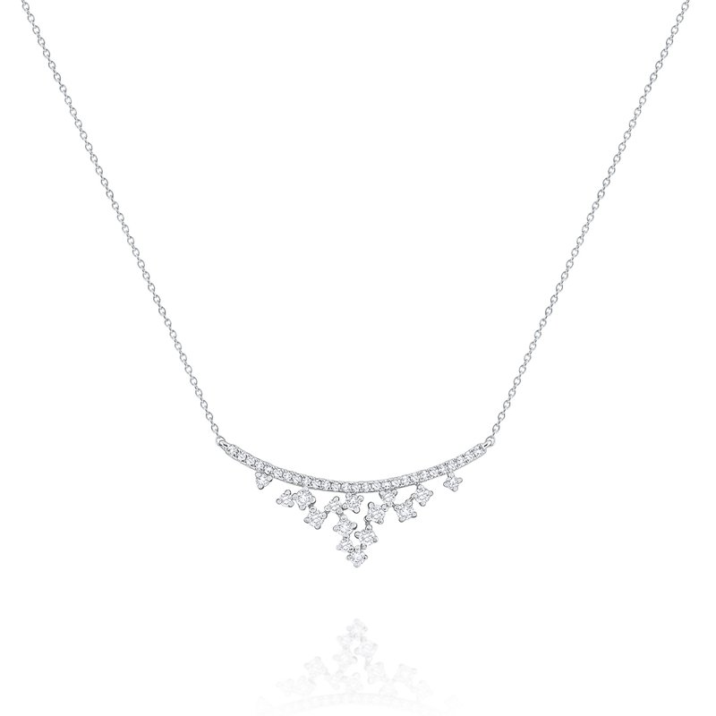 KC Designs Diamond Curved Cascade Necklace Set in 14 Kt. Gold