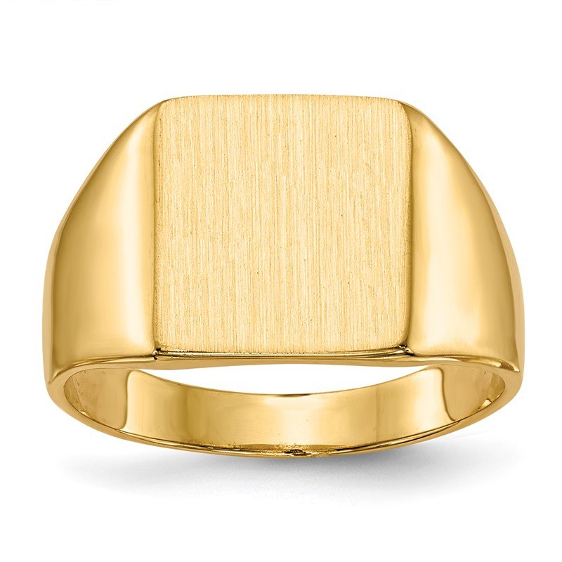 Quality Gold 14k 11.5x11.0mm Closed Back Signet Ring