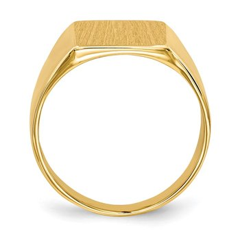 14k 11.5x11.0mm Closed Back Signet Ring