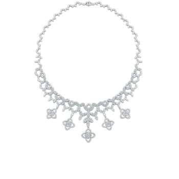 18KT GOLD BIB NECKLACE WITH DIAMONDS