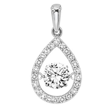 14K Diamond Rhythm Of Love Pendant 1/3 ctw