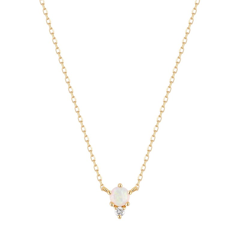 Aurelie Gi ZENA | Opal and Diamond Necklace