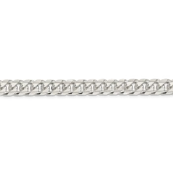 Sterling Silver 8.5mm Domed w/ Side D/C Curb Chain