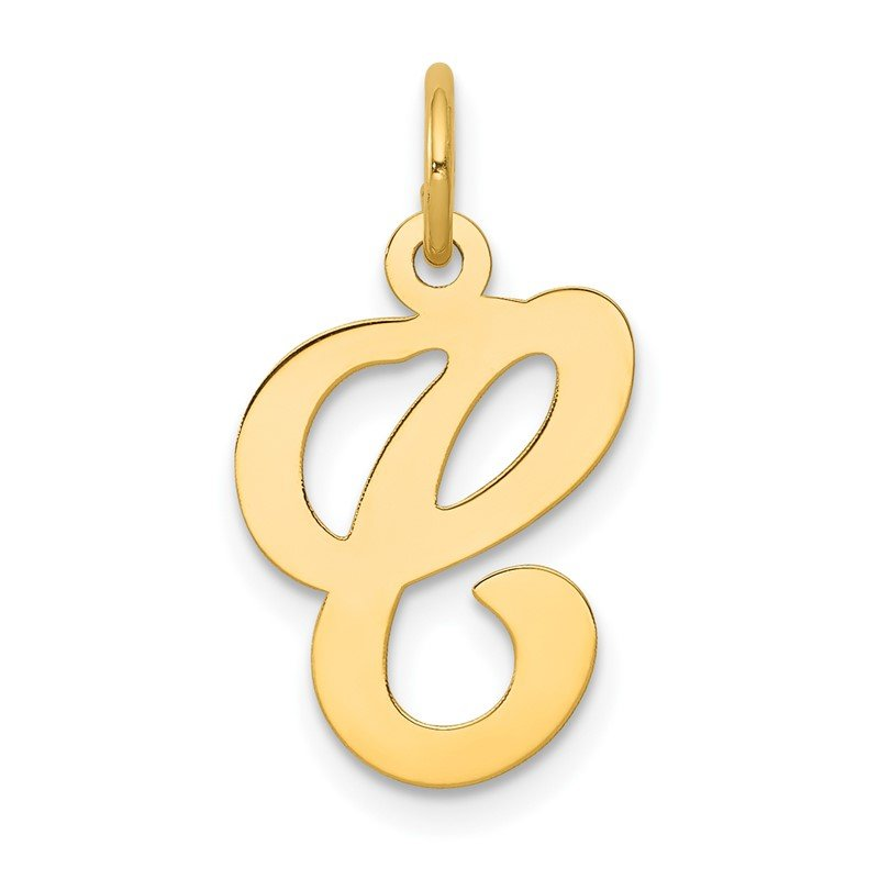 J.F. Kruse Signature Collection 14KY Script Letter C Initial Charm