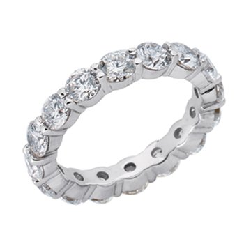 White Gold Eternity Band Shared Prong
