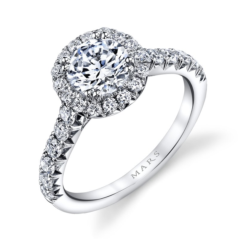 MARS Jewelry MARS 25571 Diamond Engagement Ring 0.74 ct tw