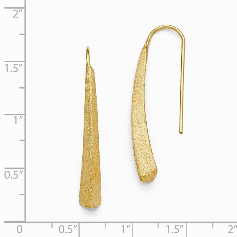Leslie's Leslie's Sterling Silver Gold-plated Polished and Brushed Earrings